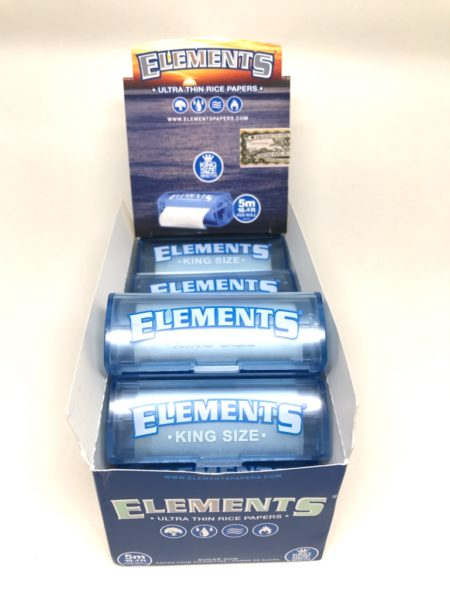 ELEMENTS KING SIZE ROLL MIT PLASTIK HALTERUNG