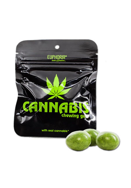 Cannabis Chewing Gum without Sugar Euphoria