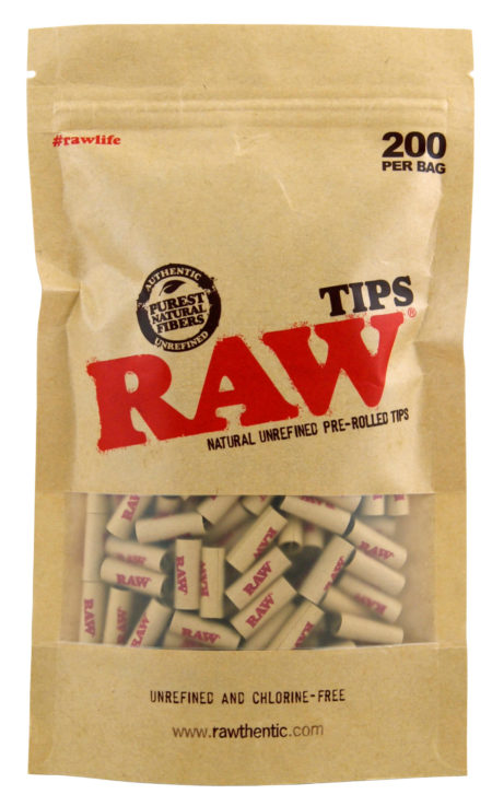 RAW Tips Pre-Rrolled Bag 200 pcs