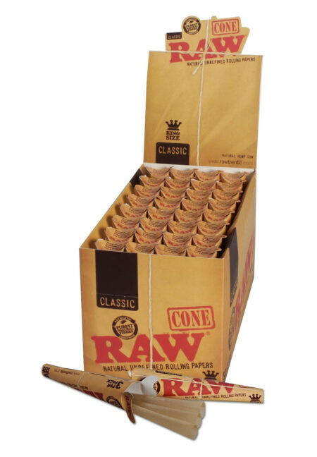 RAW Classic Cones King Size pack of 3
