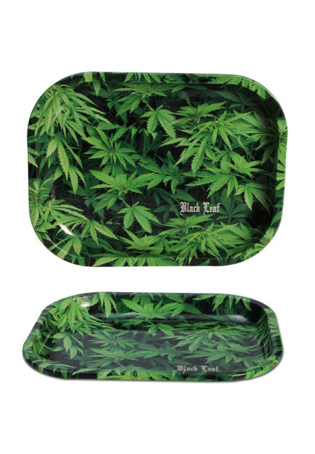 Rolling Tray with Cannabis Design small