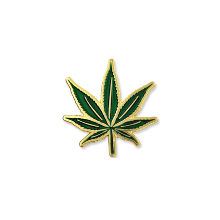 Cannabis Pot Leaf Label Pin