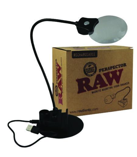 RAW Perspector Lampe mit Vergrösserungslupe