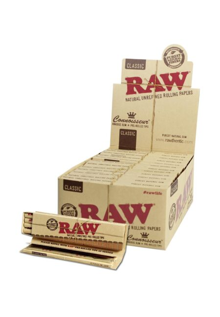 RAW Connoisseur Papers King Size Slim + pre-rolledFilter Tips