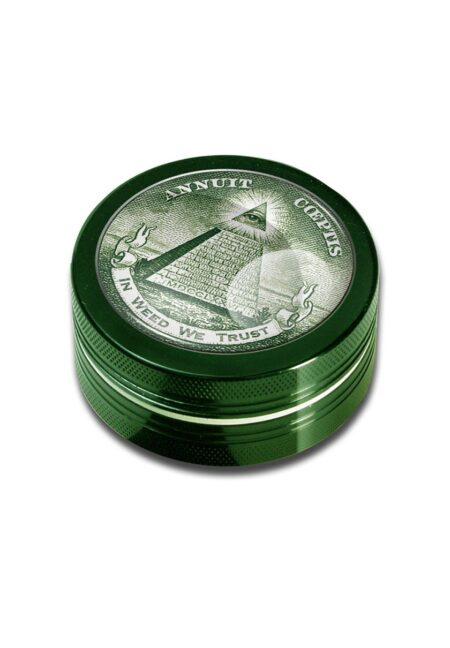 2part-Grinder In Weed We Trust