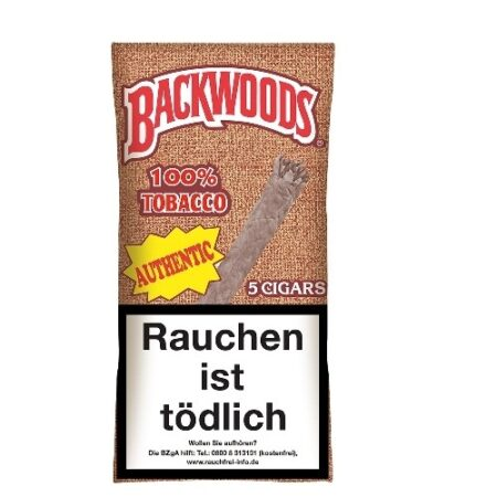 Backwoods Authentic Box 8x5pc