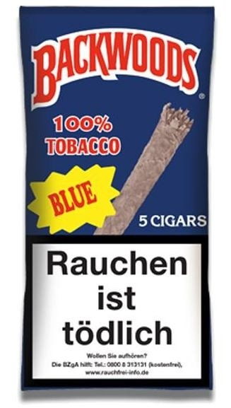 Backwoods Blue Box 8x5pc